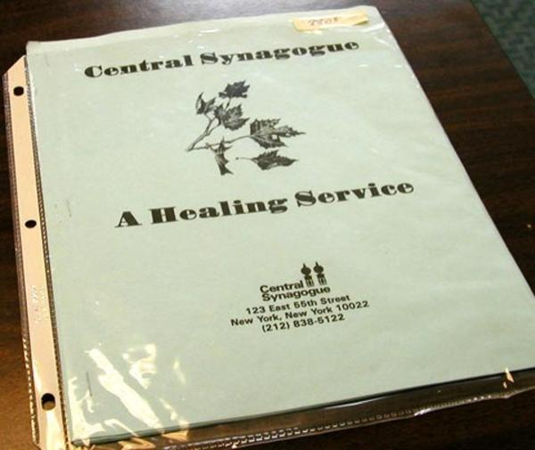 Healing Service Published by Central Synagogue