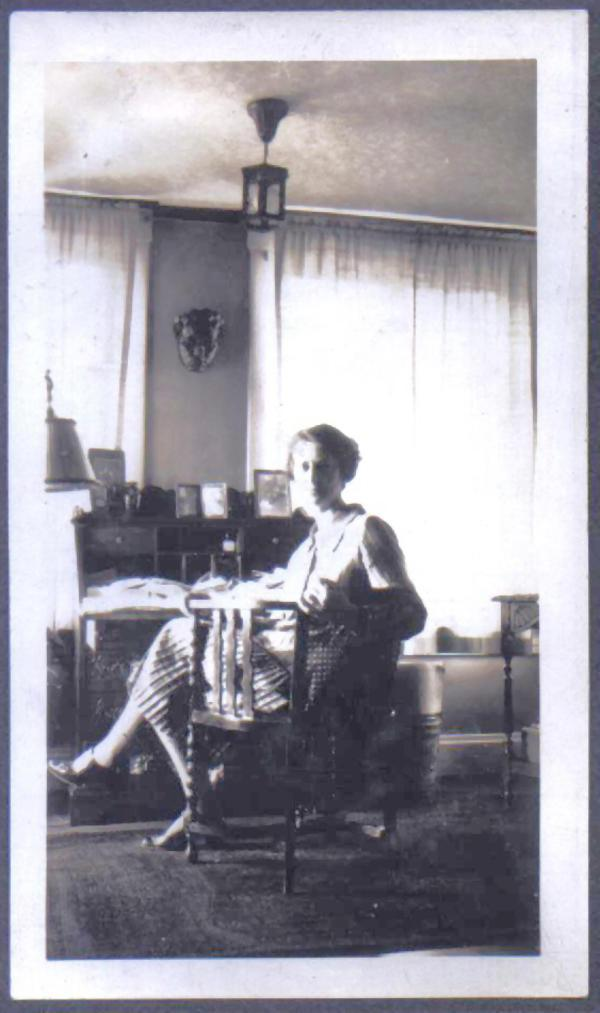 Amy K Blank at her desk 1933