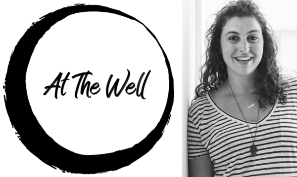 Composite of At The Well Logo and Sarah Waxman