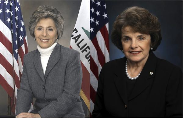 Senators Barbara Boxer and Dianne Feinstein
