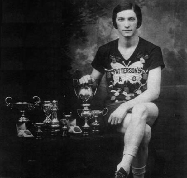 Rosenfeld with a Few of her Trophies