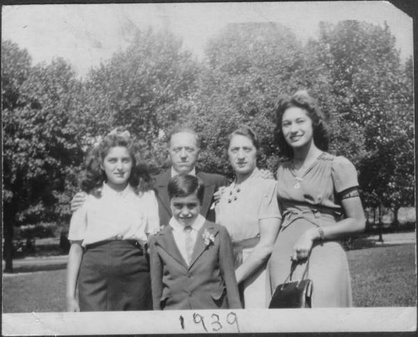The Hatkin Family on Rosh Hashanah, 1939