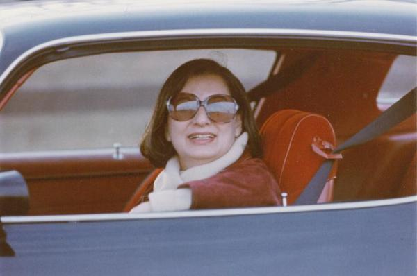 "Phyllis ""Flip"" Imber in Her Car"