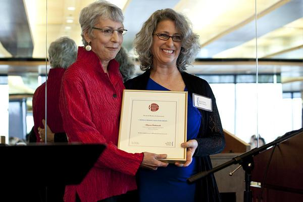 Executive Director Gail Reimer and Twersky Award Winner Allyson Mattanah