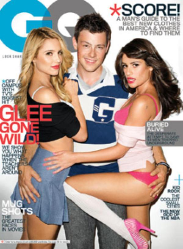 Glee on the cover of GQ magazine