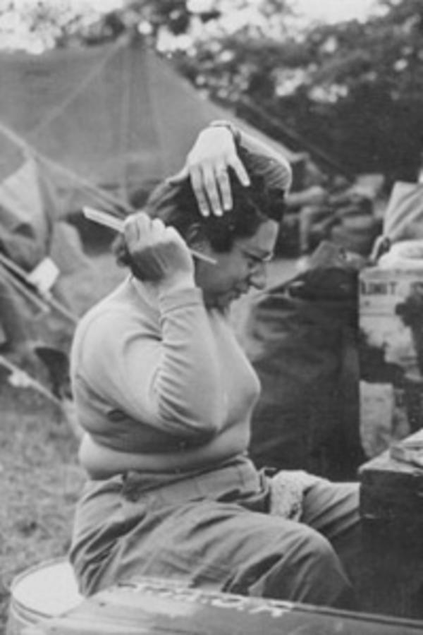 Frances Slanger in the 45th Field Hospital, Normandy, 1944