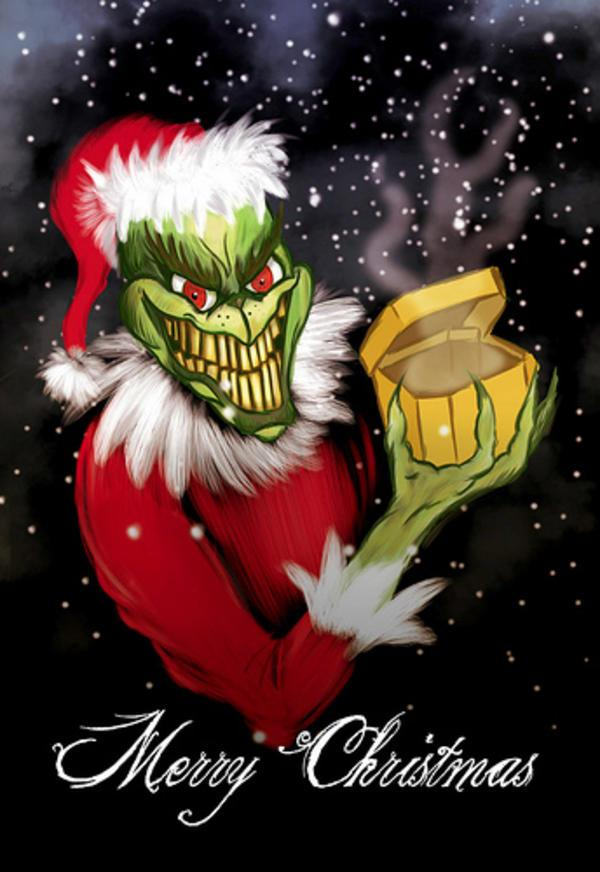 Grinch Holiday Card