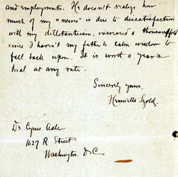 Letter from Henrietta Szold to Cyrus Adler, February 18, 1903, page 3