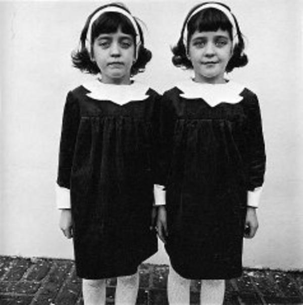 """Identical Twins, Roselle, New Jersey 1967"" by Diane Arbus"