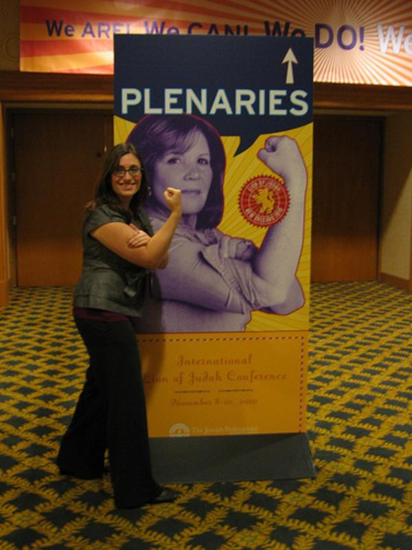 Leah Berkenwald at the International Lion of Judah Conference, New Orleans, 2010