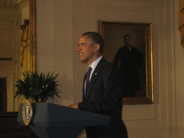 President Obama speaking at the White House reception for Jewish American Heritage Month 2012