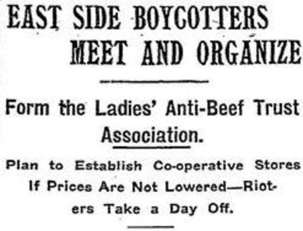 """East Side Boycotters Meet and Organize,"" New York Times"