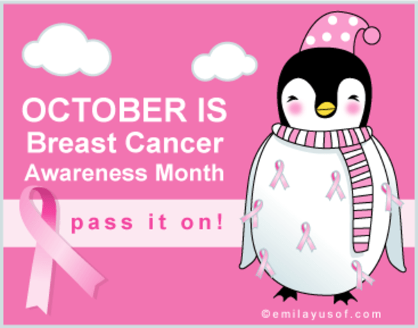Advertisement for Breast Cancer Awareness Month