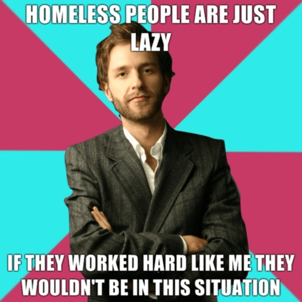 Meme about the Homeless