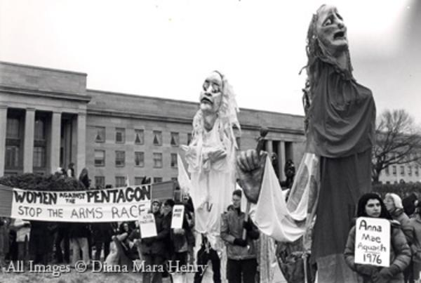The Women's Pentagon Action march on the Pentagon, November 1980