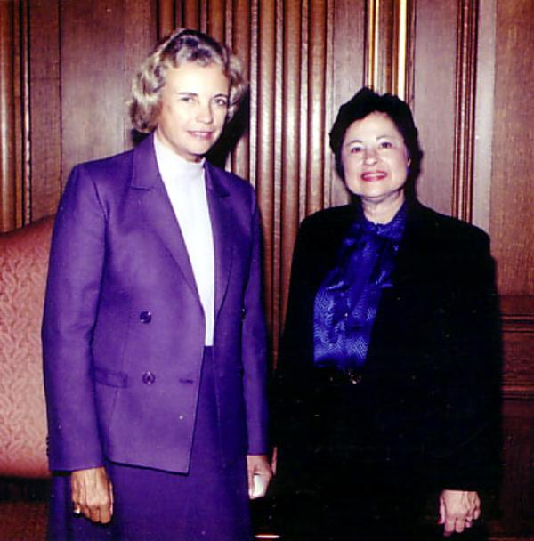 Florence Schornstein with Sandra Day O'Conner