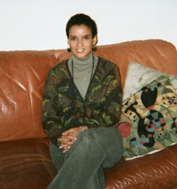 Susan Maze-Rothstein in her Brookline home, January 25, 2002