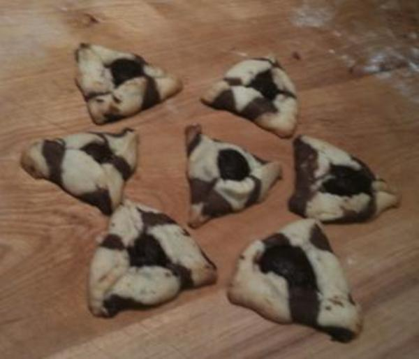 Striped Hamantaschen