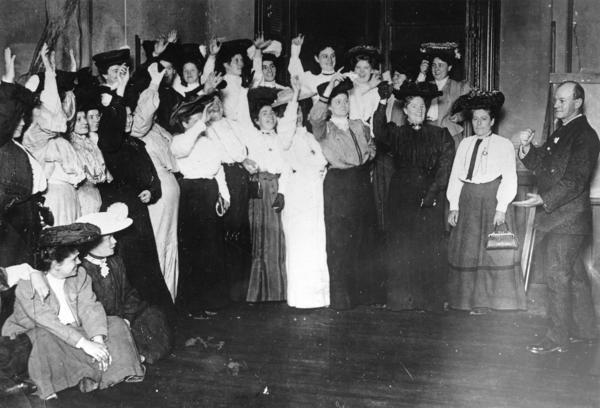Shirtwaist Makers Pledge to Strike in 1909