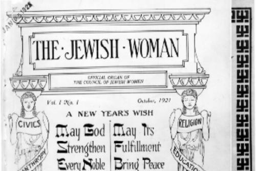 """The Jewish Woman"" Magazine Cover, October 1921"